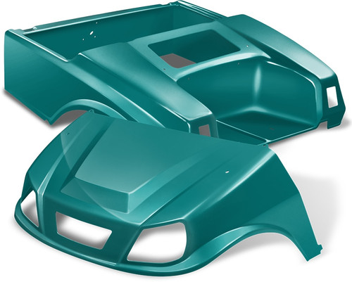 DoubleTake Spartan Golf Cart Body Kit for Club Car DS Teal NEW!