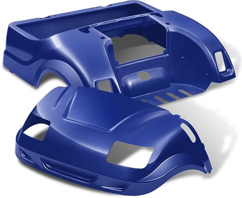 DoubleTake Vortex Golf Cart Body Kit for Yamaha Drive Blue