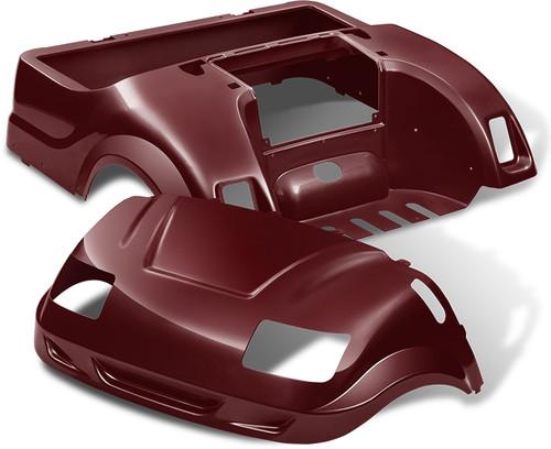 DoubleTake Vortex Golf Cart Body Kit for Yamaha Drive Burgundy