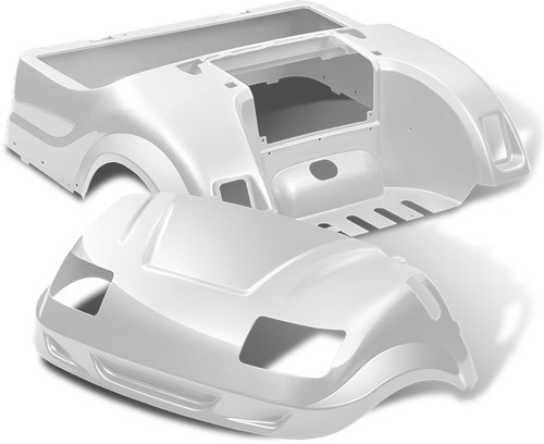 DoubleTake Vortex Golf Cart Body Kit for Yamaha Drive White Pearl