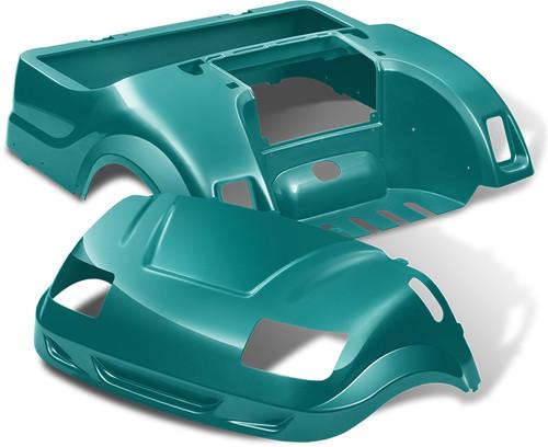 DoubleTake Vortex Golf Cart Body Kit for Yamaha Drive Teal