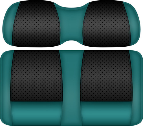 Doubletake Clubhouse Edition  Front Seat Cushion Set Teal-Black