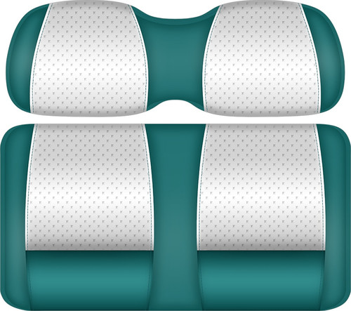 Doubletake Clubhouse Edition  Front Seat Cushion Set Teal-White
