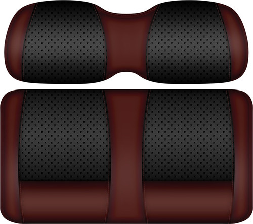 Doubletake Clubhouse Edition  Front Seat Cushion Set Black-Burgundy