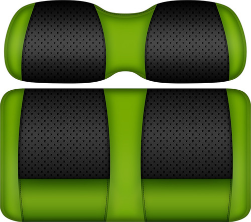 Doubletake Clubhouse Edition  Front Seat Cushion Set Black-Lime