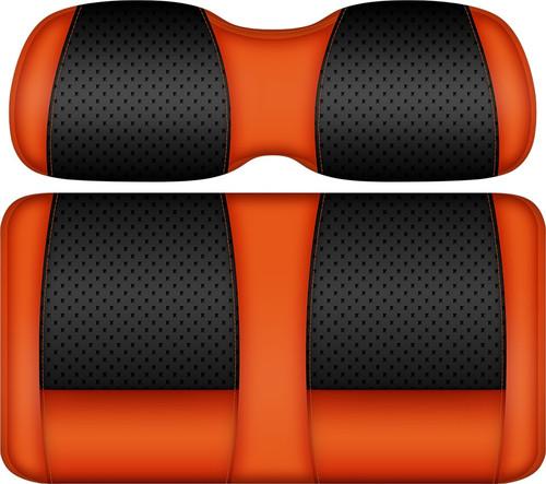 Doubletake Clubhouse Edition  Front Seat Cushion Set Black-Orange