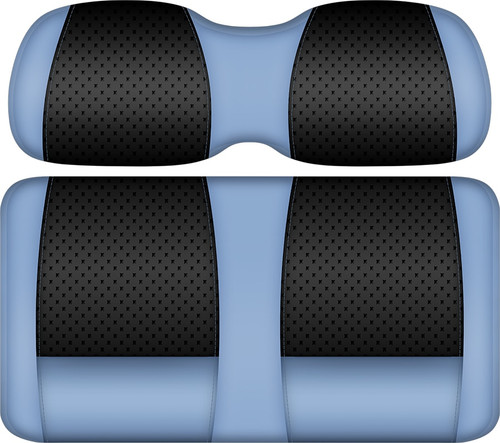 Doubletake Clubhouse Edition  Front Seat Cushion Set Black-Sky Blue
