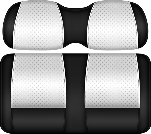 Doubletake Clubhouse Edition  Front Seat Cushion Set Black-White