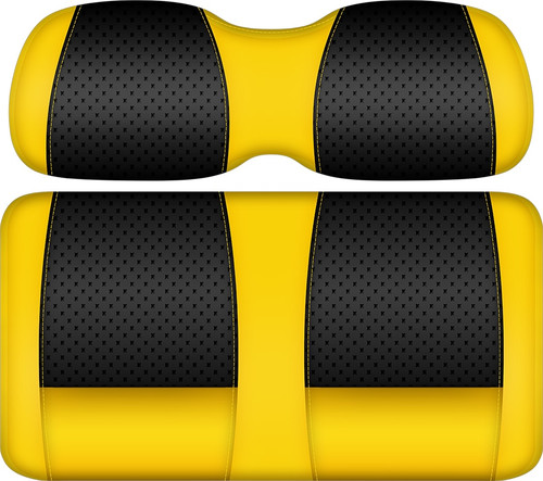 Doubletake Clubhouse Edition  Front Seat Cushion Set Black-Yellow