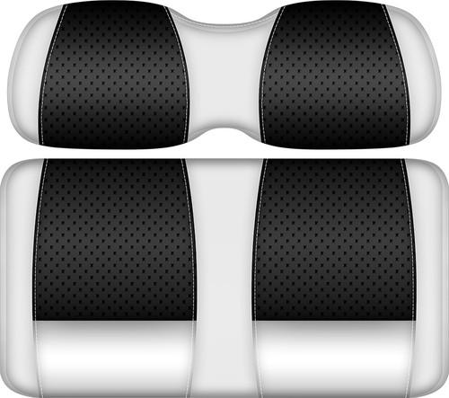 Doubletake Clubhouse Edition  Front Seat Cushion Set White-Black