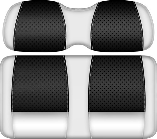 Doubletake Clubhouse Edition  Front Seat Cushion Set White-Black