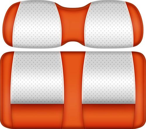 Doubletake Clubhouse Edition  Front Seat Cushion Set White-Orange