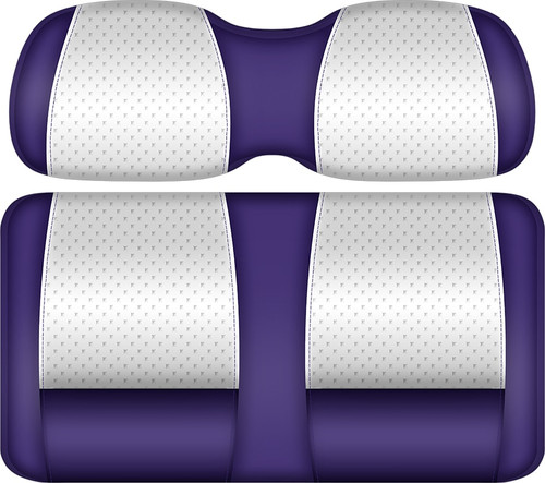 Doubletake Clubhouse Edition  Front Seat Cushion Set White-Purple