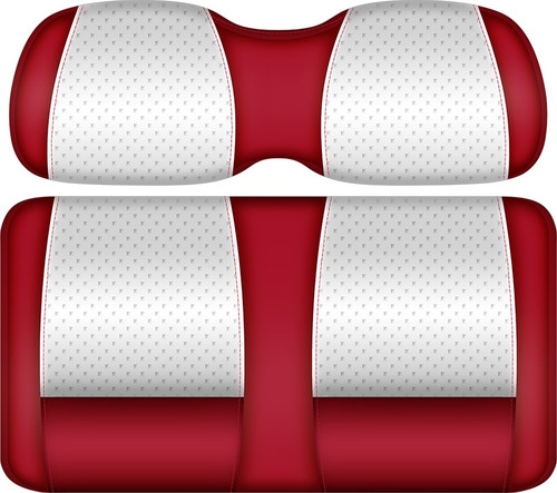 Doubletake Clubhouse Edition  Front Seat Cushion Set White-Red