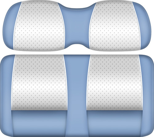 Doubletake Clubhouse Edition  Front Seat Cushion Set White-Sky Blue