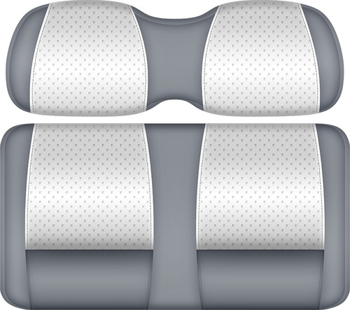 Doubletake Clubhouse Edition  Front Seat Cushion Set White-Silver