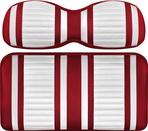 Doubletake Deluxe Extreme  Front Seat Cushion Set White-Red