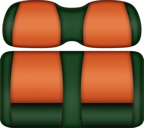 Doubletake FANatic Edition Front Seat Cushion Set Green-Tangerine - Miami Hurricanes