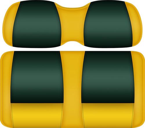 Doubletake FANatic Edition Front Seat Cushion Set Maize-Green