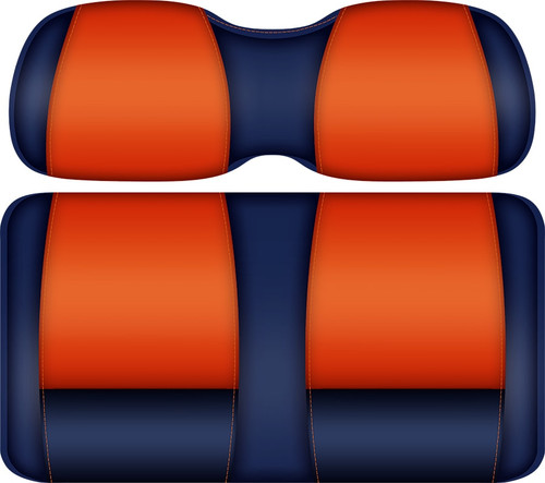 Doubletake FANatic Edition Front Seat Cushion Set Navy-Orange - AUBURN TIGERS