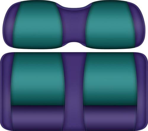 Doubletake FANatic Edition Front Seat Cushion Set Purple-Teal