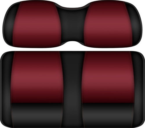 Doubletake FANatic Edition Front Seat Cushion Set Ruby-Black