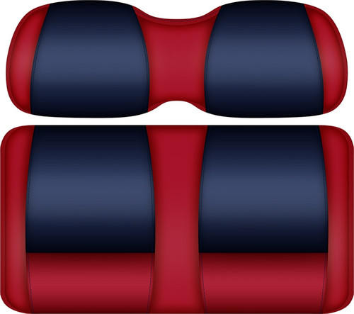 Doubletake FANatic Edition Front Seat Cushion Set Red-Navy