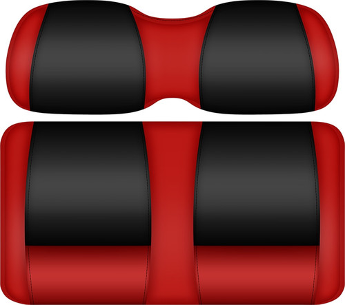 Doubletake FANatic Edition Front Seat Cushion Set Scarlet-Black