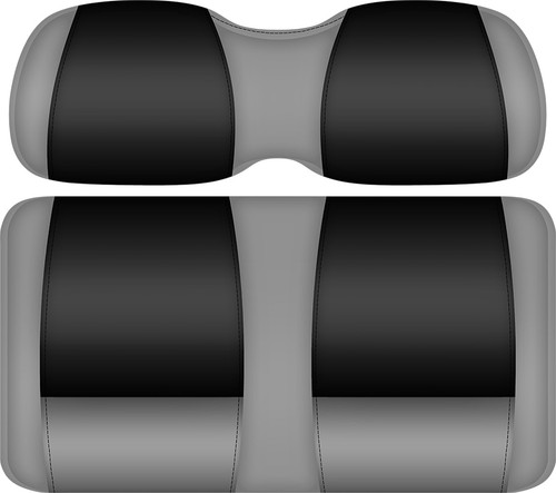 Doubletake FANatic Edition Front Seat Cushion Set Silver-Black