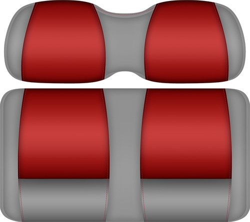 Doubletake FANatic Edition Front Seat Cushion Set Silver-Scarlet