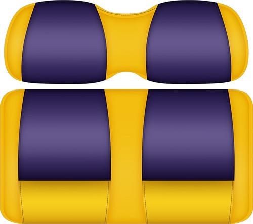 Doubletake FANatic Edition Front Seat Cushion Set Sun-Purple - LSU TIGERS