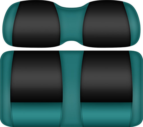 Doubletake FANatic Edition Front Seat Cushion Set Teal-Black