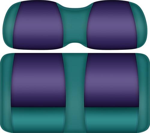 Doubletake FANatic Edition Front Seat Cushion Set Teal-Purple