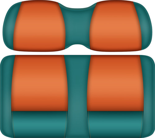 Doubletake FANatic Edition Front Seat Cushion Set Teal-Tangerine