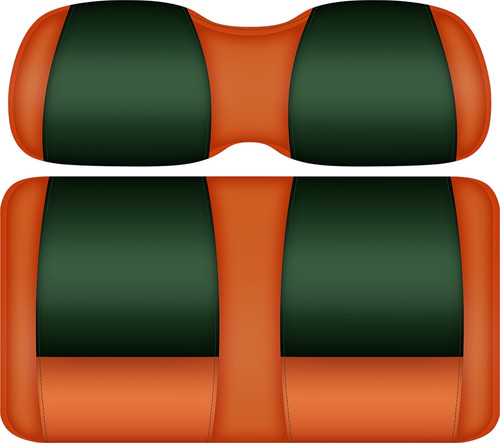 Doubletake FANatic Edition Front Seat Cushion Set Tangerine-Green - Miami Hurricanes