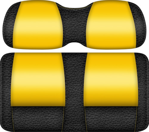 Double Take Veranda Edition Golf Cart Seat Black-Yellow