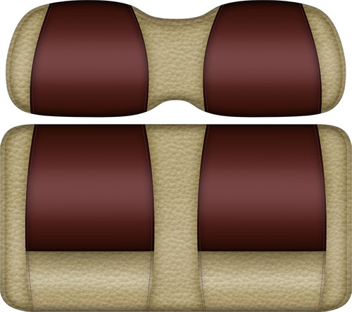 Double Take Veranda Edition Golf Cart Seat Sand-Burgundy