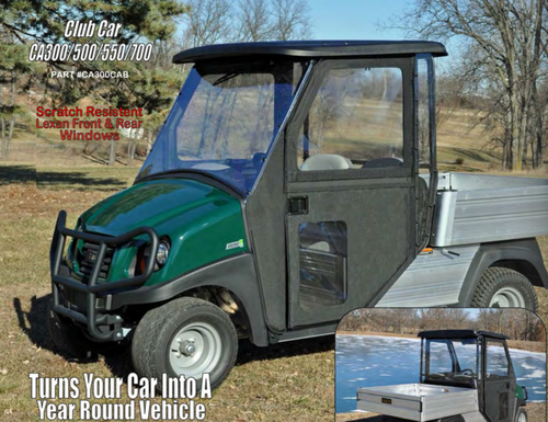 M&M Soft Cabs CarryAll 1, 2 or 6 -Top & Lexan Windshield Included (Cart Not Included)