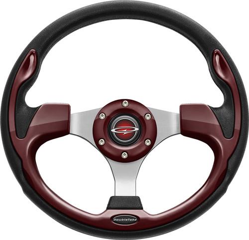 "Pilot 13"" Color Steering Wheel Burgundy With Free Hub Adapter"