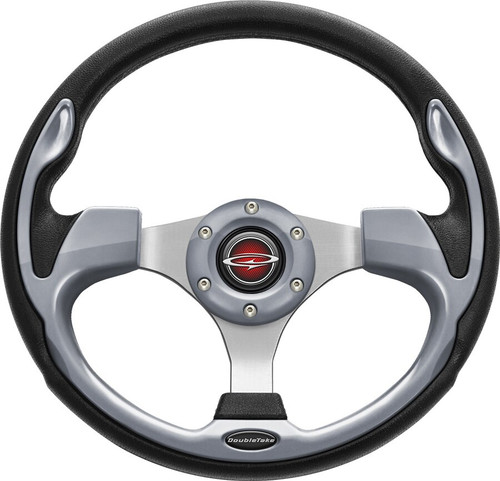 """Pilot 13"""" Color Steering Wheel Silver With Free Hub Adapter"""