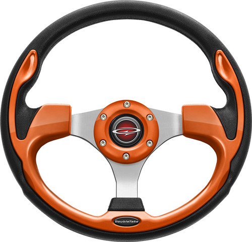 "Pilot 13"" Color Steering Wheel Orange With Free Hub Adapter"