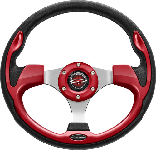 """Pilot 13"""" Color Steering Wheel Red With Free Hub Adapter"""