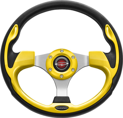 """Pilot 13"""" Color Steering Wheel Yellow With Free Hub Adapter"""