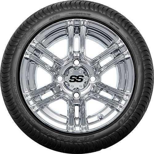 """DoubleTake 12"""" W59 SS Chrome Street Tire"""
