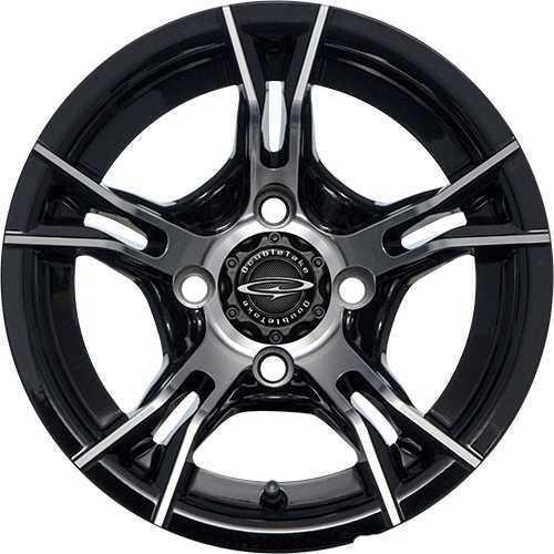"""DoubleTake 12"""" W60 Wheel Machined Black"""