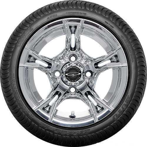 """DoubleTake 12"""" W60 Chrome Street Tire"""