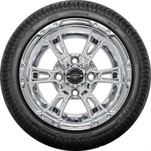"""12"""" Wicked 57 Series Street Chrome with Pearl Set of 4"""