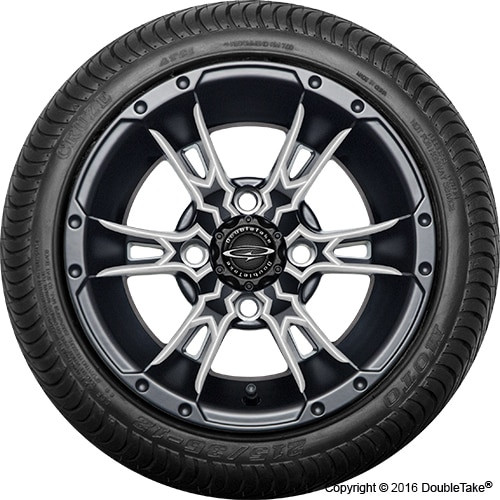 """12"""" Wicked 57 Series Street Satin Black with Pearl Set of 4"""