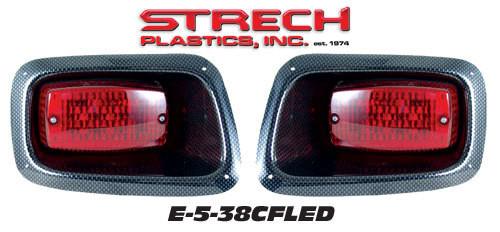 E-Z-GO TXT LED Taillights Carbon Fiber