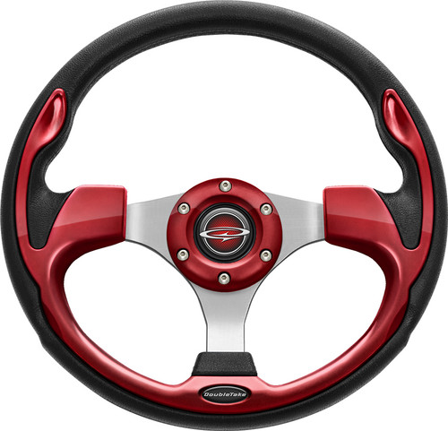 "Pilot 13"" Color Steering Wheel Ruby With Free Hub Adapter"